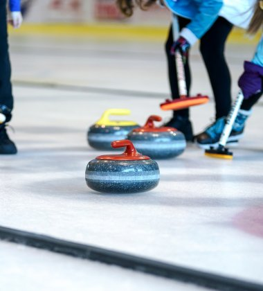 Escape, curling en hamburger